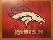 Tin Sign Vintage Denver Broncos Orange Crush NFL