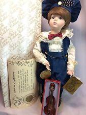 """Kingstate Prestige Collection LE 1446/3500 Danny w/ Violin 16"""" Porcelain Doll"""