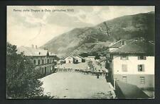 Oulx ( Torino ) : Arrivo delle Truppe - cartolina viaggiata nel 1910 per America