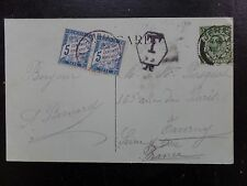 Jersey postcard with Hexangle Taxe JE h/s with 2 x 5c tax stamp