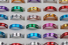Wholesale Mixed Jewelry Lots 300ps Assorted Colors Aluminum Alloy Gothic Rings