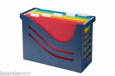 JALEMA Office-Box Re-Solution Hängemappen-Box blau INCL. 5 MAPPEN Hänge-Box NEU