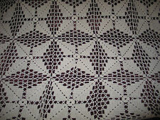 Beautiful Antique off White Crochet Lace Bedspread~Wool