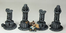 FROSTGRAVE (suited) - 'DEAD KINGS STATUES' - PRE PAINTED - FANTASY TERRAIN