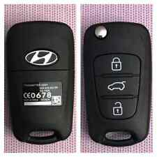 Flip Remote Key Shell for HYUNDAI Flip Remote Key Fob 3 Button Elantra i20 i30