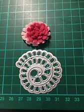 D19 Rolled Thinlits Flower Cutting Dies For Sizzix Spellbinders Xcut Etc Cutter