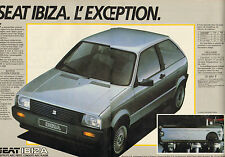 Publicité Advertising 1984  ( Double page )  SEAT IBIZA 1.5 GLX