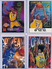 SHAQUILLE O'NEAL - 4 PC Lot 1996 ZForce x2 & 1997 ZForce x2 - Lakers/Magic