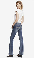 Express REROCK SUPER THICK STITCH BOOT CUT JEAN Size 0