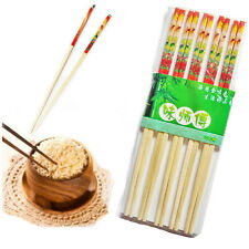 "9.5"" Wooden Bamboo Chopsticks Traditional Chinese/Japanese Printed 5 Pairs Stick"