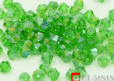 Free 400pcs Swarovski 4mm Loose Glass Crystal Bicone beads 5301 Jewelry DIY