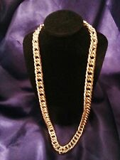 "24"" 15mm 18K Mens Gold Plated Miami Bling Chain Stoneless Necklace Birthday Gift"