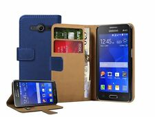 Wallet BLUE Leather Case Cover For Samsung Galaxy Core II 2 (SM-G355H)