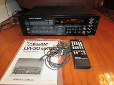TASCAM DA-30 MKII Digital Audio Tape (DAT) deck with manual and remote bundle