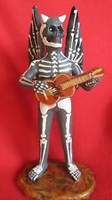 Pablo Paredes Goche Ceramic Mexican Folk Art Skeleton Devil Playing Guitar