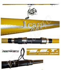 kit canna da pesca beach ledgering 4m lancio + mulinello dom surfcasting mare