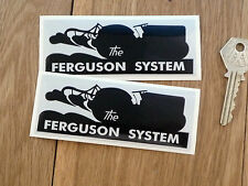 THE FERGUSON SYSTEM Tractor Stickers 110mmPair Agricultural Farm Farming Classic