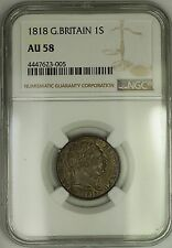 1818 Great Britain George III Silver Shilling 1S Coin NGC AU-58