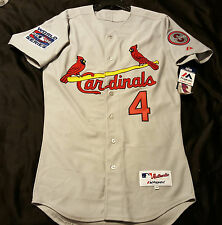 Authentic Majestic ALL SIZES,  ST LOUIS CARDINALS, YADIER MOLINA GRAY Jersey