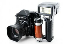 Pentax 67 TTL Camera Body w/ SMC 105mm F2.4 Lens,Strobe and More! From Japan