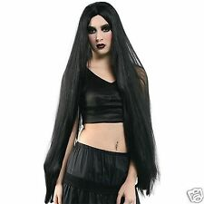 "Extra Long Black Wig Adult Godiva Vampire Witch 40"" 101cm Costume Accessories"