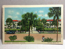 Hotel Princess Issena Daytona Beach Volusia FL Vtg Postcard Posted 1938 Color