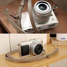 CIESTA Buttero Camera Genuine Leather Neck Strap (Beige) for RF Mirrorless