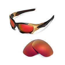 New Walleva Polarized Fire Red Replacement Lenses For Oakley PIT BOSS II
