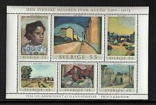 VS71 SWEDEN #821 SOUVENIR SHEET, MINT, OG, NH, VF 1969