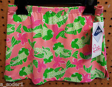 NWT LILLY PULITZER LUANN BE COY Minzer Pink Swim Skirt Cover Up Sz 7