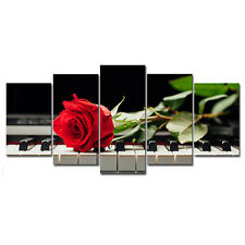 HD Picture Photo Art Print on Canvas Home Wall Decor Red Rose Flower (No Frame)
