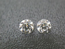 0.20ct Natural Loose Diamond Pair Super Fine Quality F-G Color Round SI1 Clarity