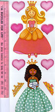 PRINCESS GIRLS wall stickers 25 decals hearts crowns tiaras shoes room decor