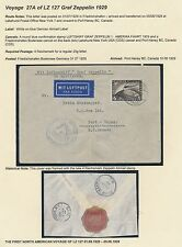LZ127 ZEPPELIN ON FLIGHT COVER GERMANY TO PORT HANEY B.C., CANADA BS2845