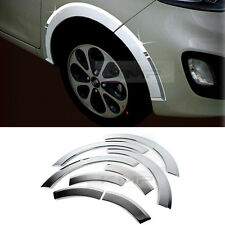 Chrome Wheel Fender Lip Cover Guard Molding Trim 8Pcs For KIA 2011-2017 Picanto
