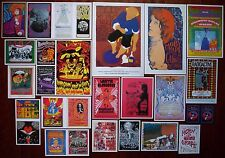 BLUE CHEER ! Early Psychedelic MOBY GRAPE Rock Concert mini Posters SET