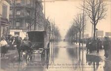 CPA 94 IVRY INONDATIONS 1910 LA RUE DE SEINE ATTELAGE GROS PLAN
