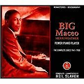 BIG MACEO MERRIWEATHER POWER PIANO PLAYER THE COMPLETE SIDES 1941-1950 2 CD BOX