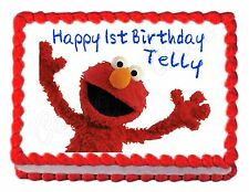 Sesame Street ELMO edible party cake topper decoration cake frosting sheet