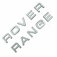 Silver Lettering Range Rover Classic bonnet tailgate font decal badges boot logo