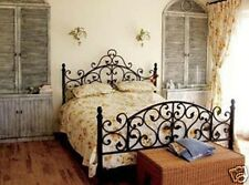 Antique American Country Style Iron Bed Ends Frame Castings KING Black