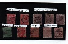 COLLECTION 1860 EARLY USED VICTORIA STAMPS SG CAT £1940