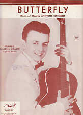 Butterfly - Charlie Gracie - 1957 US Sheet Music
