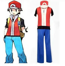 Free shipping Pokemon Trainer Red Cosplay Costume
