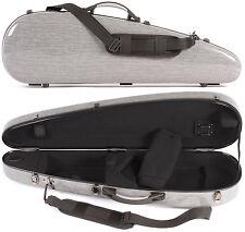 Core 801 Cresent Gray Grain Fiberglass 4/4 Violin Case - FRIENDLY & PROFESSIONAL