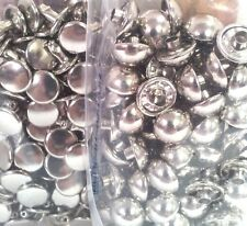 10mm DOMED RIVETS 100 Pack 11321-12 Tandy Leather Nickel Plate Dome Craft Rivet