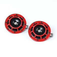 2x Red Super Loud Grille Mount Compact Electric Blast Tone Horn Kit 12V 110dB