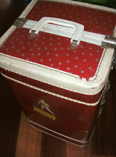 Vintage Steamer TRUNK doll clothes Carrying Case locker suitcase wardrobe closet