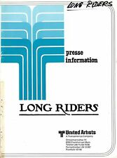 Long Riders Presseheft David Carradine, Keith, Stacy Keach, Dennis Quaid, Randy