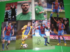 Crystal Palace FC 15 x Signed 2012/13 Promotion Season 12x8 Player Photographs
